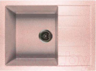 Мойка кухонная GranFest Quadro GF-Q650L (светло-розовый)