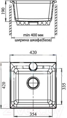 Мойка кухонная GranFest GF-P420 (серый)
