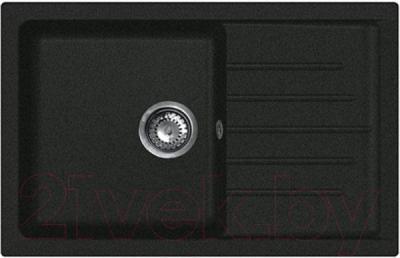 Мойка кухонная GranFest Practik GF-P760L (черный)