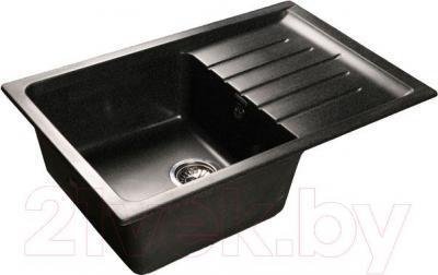 Мойка кухонная GranFest GF-P760L (черный)