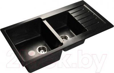 Мойка кухонная GranFest GF-P980KL (черный)