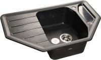 Мойка кухонная GranFest Corner GF-C800E (черный) -