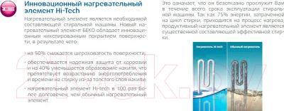 Стиральная машина Beko RKB58831PTMA - технология Hi-Tech