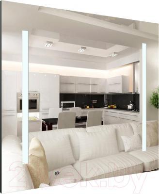 Зеркало интерьерное Dubiel Vitrum Ready 65x65 (5905241905853) - с подсветкой и выключателем на зеркале