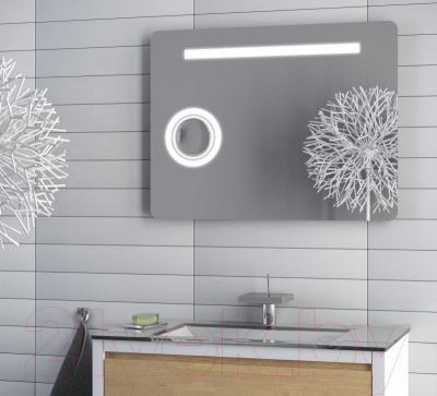 Зеркало интерьерное Dubiel Vitrum Nevada I 85x65 (5905241002347) - дополнительное зеркало с трехкратным увеличением