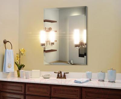 Зеркало интерьерное Dubiel Vitrum Cento II 55x65 (5905241015965) - два встроенных светильника + стеклянная полка