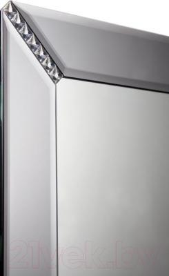 Зеркало интерьерное Dubiel Vitrum Syriusz 65x80 (5905241000930) - по углах графитовые кристаллы