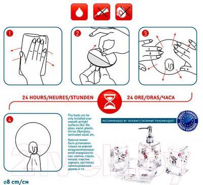 Крючок для ванны Tatkraft Funny Cats 18204 - инструкция по монтажу