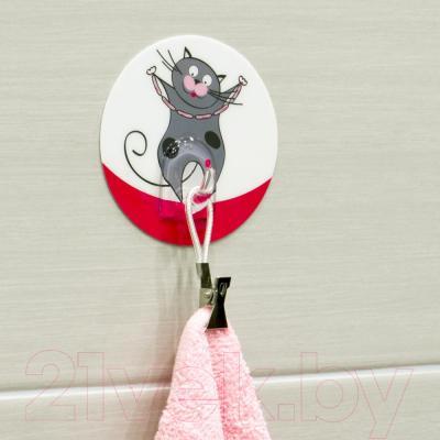 Крючок для ванны Tatkraft Funny Cats Tom 18228 - в интерьере