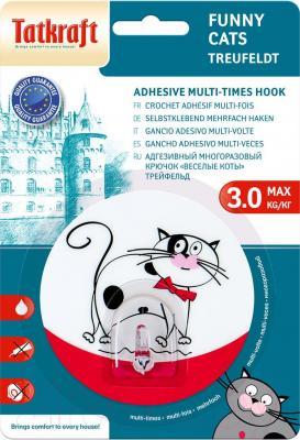 Крючок для ванны Tatkraft Funny Cats Treufeldt 18242 - самоклеющийся крючок