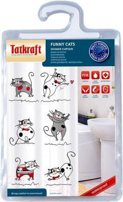 Текстильная шторка для ванной Tatkraft Funny Cats 14022 - упаковка