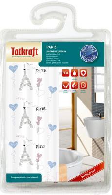 Текстильная шторка для ванной Tatkraft Paris 18044 - упаковка
