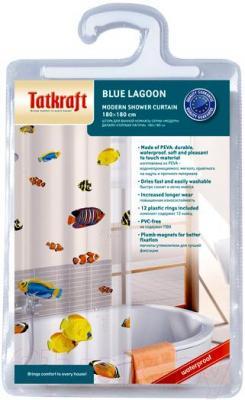 Текстильная шторка для ванной Tatkraft Blue Lagoon 14039 - упаковка