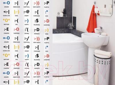 Текстильная шторка для ванной Tatkraft Emotions14787 - в интерьере