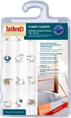 Текстильная шторка для ванной Tatkraft Funny Sheeps 14855 - упаковка