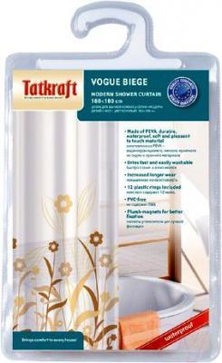 Текстильная шторка для ванной Tatkraft Vogue Biege 14596 - упаковка