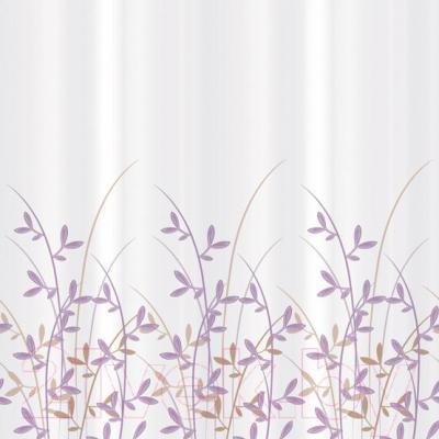 Текстильная шторка для ванной Tatkraft Immanuel Olive 14602