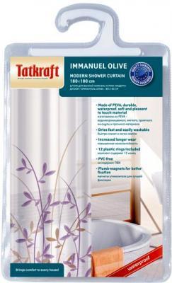 Текстильная шторка для ванной Tatkraft Immanuel Olive 14602 - упаковка