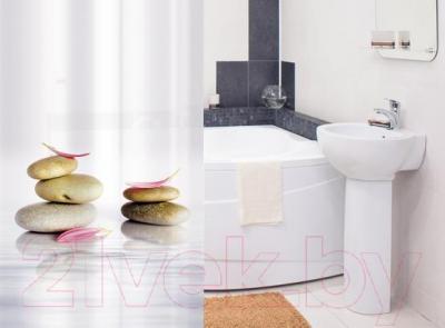 Текстильная шторка для ванной Tatkraft Stone Garden 14473 - в интерьере