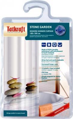 Текстильная шторка для ванной Tatkraft Stone Garden 14473 - упаковка