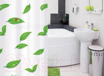 Текстильная шторка для ванной Tatkraft Nature 14015 - в интерьере