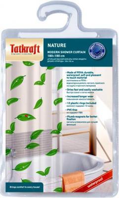 Текстильная шторка для ванной Tatkraft Nature 14015 - упаковка