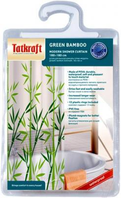 Шторка-занавеска для ванны Tatkraft Bamboo Green 14077 - упаковка