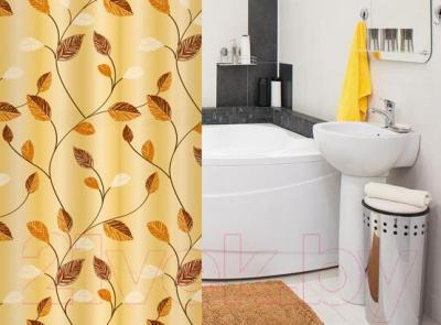 Текстильная шторка для ванной Tatkraft Autumn 14442 - в интерьере