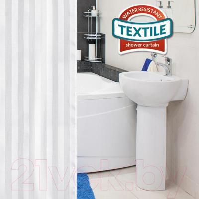 Текстильная шторка для ванной Tatkraft Harmony 18792 - в интерьере