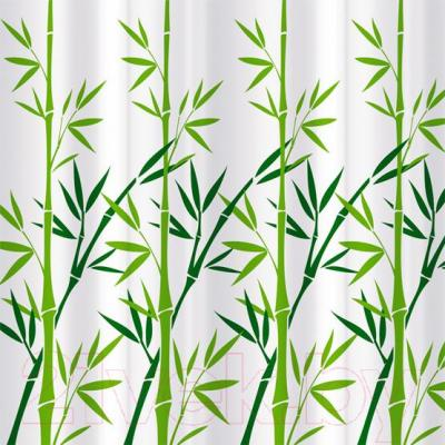 Текстильная шторка для ванной Tatkraft Bamboo Green 18013