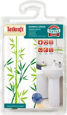 Текстильная шторка для ванной Tatkraft Bamboo Green 18013 - упаковка
