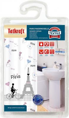 Шторка-занавеска для ванны Tatkraft Paris Mademoiselle 18082 - упаковка