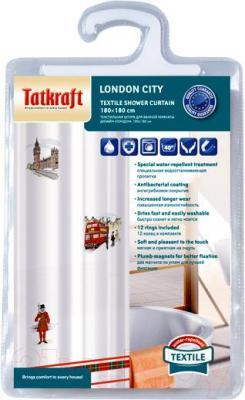 Текстильная шторка для ванной Tatkraft London City 14701 - упаковка