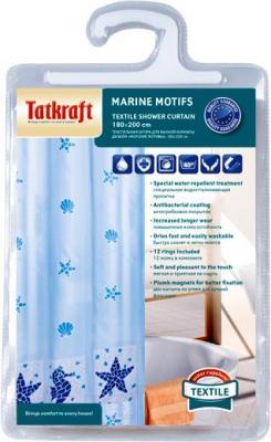Текстильная шторка для ванной Tatkraft Marine Motifs 14435 - упаковка