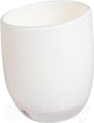 Стакан для зубных щеток Tatkraft Repose White 12219