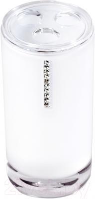 Стакан для зубных щеток Tatkraft Diamond White 12400
