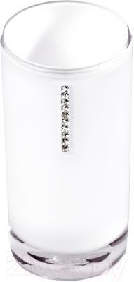 Стакан для зубных щеток Tatkraft Diamond White 12424