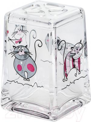 Стакан для зубных щеток Tatkraft Acryl Funny Cats 12967