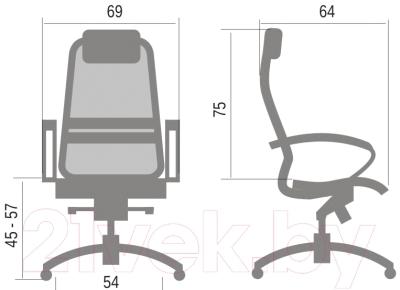 Кресло офисное Metta Samurai S1 (черный)