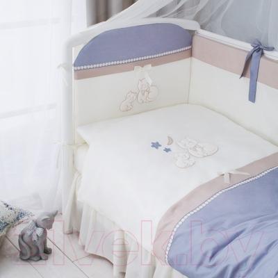 Комплект в кроватку Perina Котята КТ6-01.4 (Лазурь)