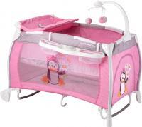 Кровать-манеж Lorelli I'Lounge Rocker (Pink Pinguin) -