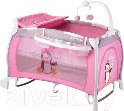 Кровать-манеж Lorelli I'Lounge Rocker (Pink Pinguin)