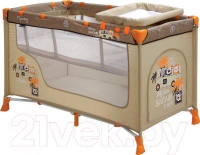 Кровать-манеж Lorelli Nanny 2 Beige Safari Tours (10080191609)