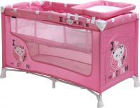 Кровать-манеж Lorelli Nanny 2 Pink Kitten (10080191612) -