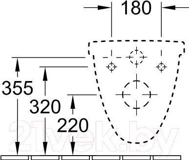 Унитаз подвесной Villeroy & Boch O.Novo 5660 H101