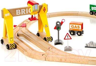 Железная дорога детская Brio Freight Crane Set 33048