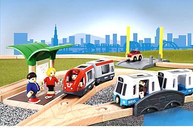 Железная дорога детская Brio City Transport Set 33139
