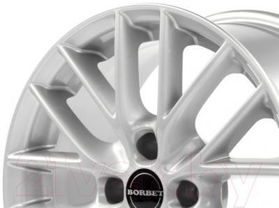 """Литой диск Borbet BS4 15x6.5"""" 4x108мм DIA 72.5мм ET 40мм (Brilliant Silver)"""