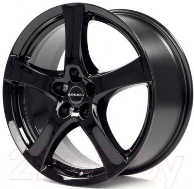 """Литой диск Borbet F 15x6"""" 5x112мм DIA 72.5мм ET 43мм (Black Glossy)"""