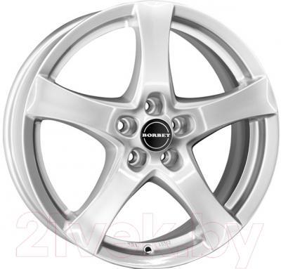 "Литой диск Borbet F 15x6"" 5x114.3мм DIA 72.5мм ET 45мм (Brilliant Silver)"
